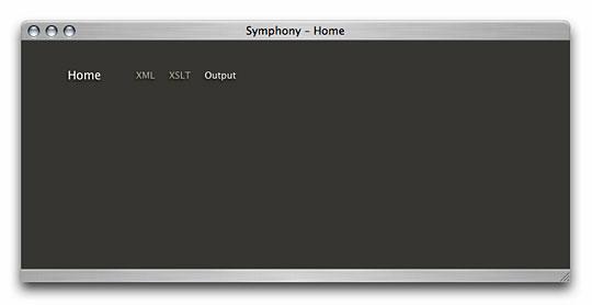 Symphony Admin : Home Page - Debug Information - Output