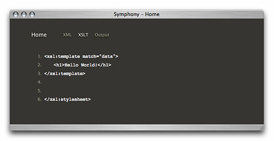 Symphony Admin : Home Page - Debug Information - XSLT