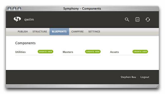 Symphony Admin : Components